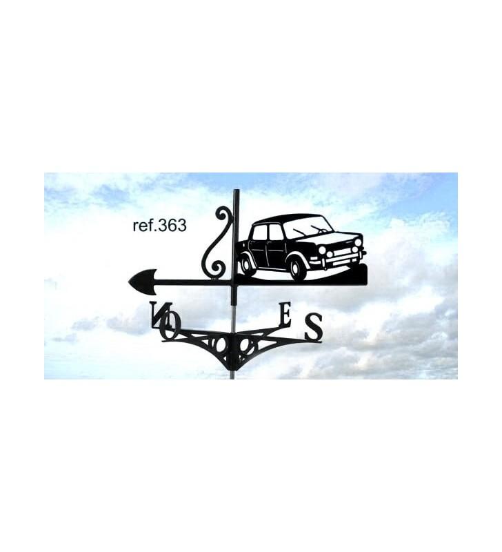 Girouette de toit Simca 1000 Rallye 2, en acier ou en inox