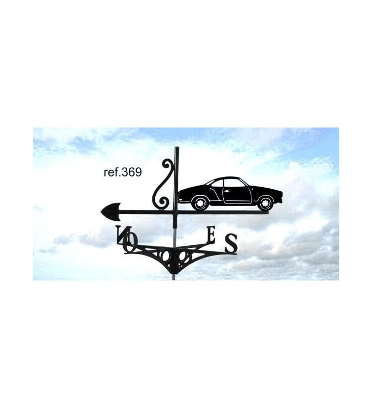 Girouette de toit Volkswagen Karmann Ghia Type 14, en acier ou en inox