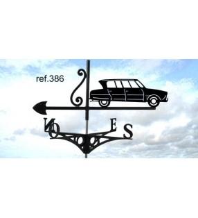 Girouette de toit Citroën Ami 6 dite 3CV, en acier ou en inox