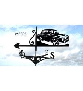 Girouette de toit Renault Dauphine, en acier ou en inox