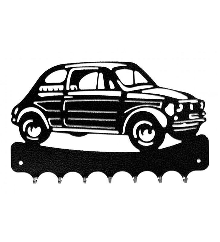 Accroche-clés, décor en métal, Fiat 500