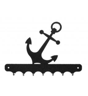 Accroche-clés, décor en métal, Ancre marine