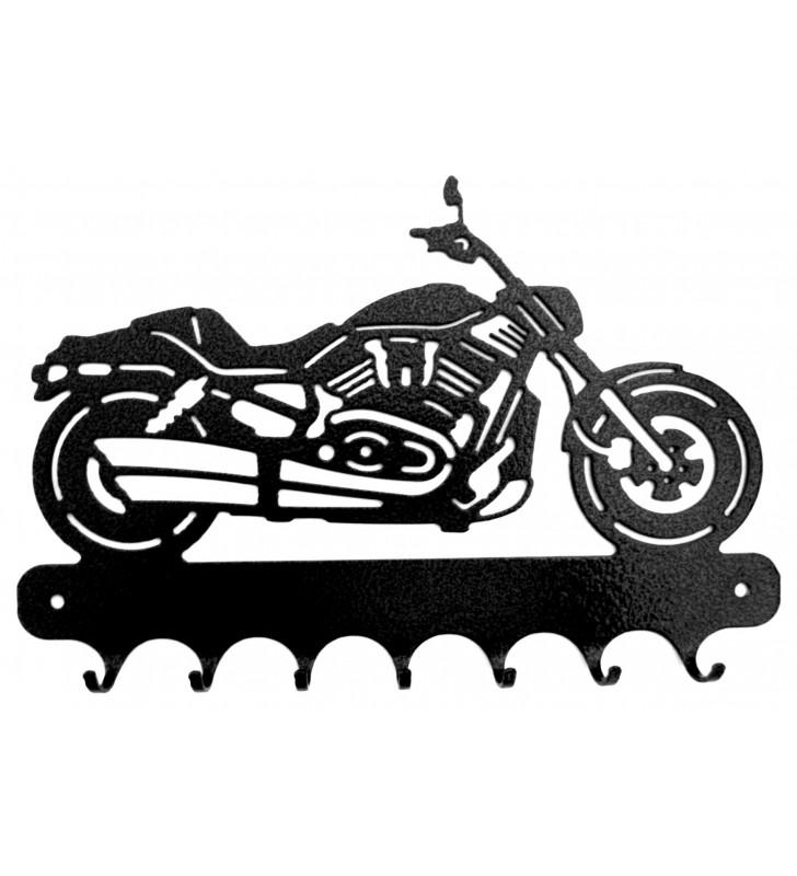 Accroche-clés, décor en métal, moto Harley V Rod