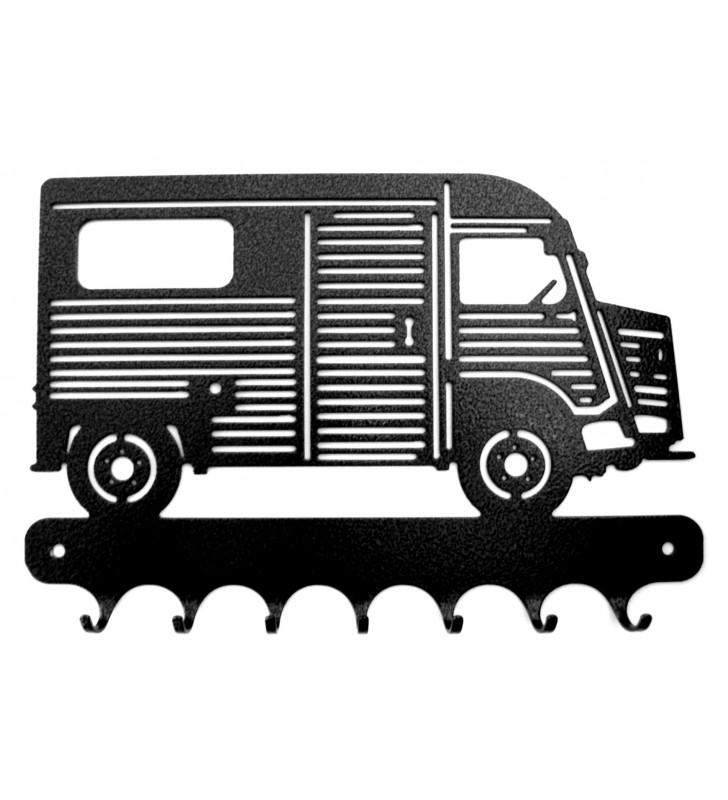 Accroche-clés, décor en métal, Tube Citroën