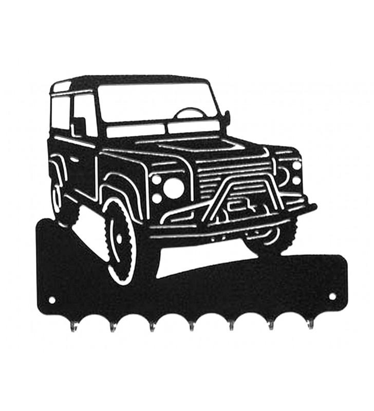 Accroche-clés, décor en métal, Land Rover Defender