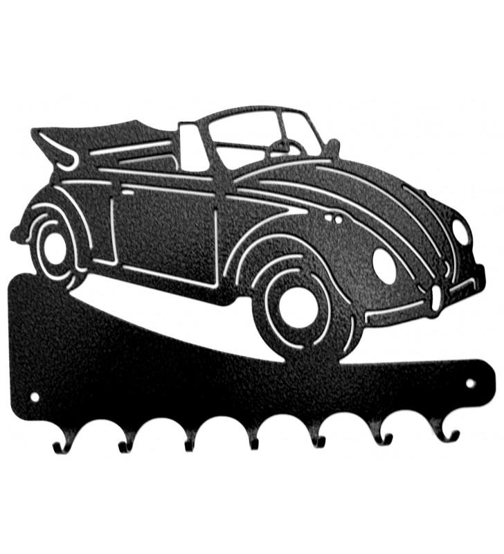 Accroche-clés, décor en métal, Vokswagen Coccinelle décapotable