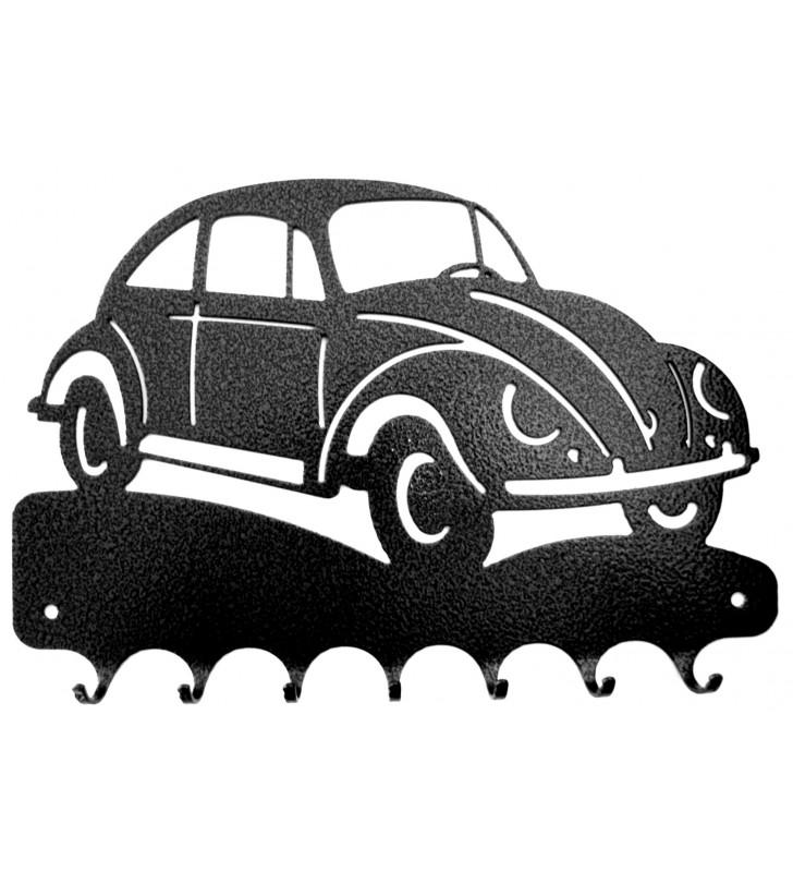 Accroche-clés, décor en métal, Vokswagen Coccinelle