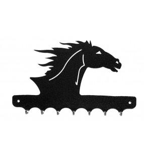 Accroche-clés, décor en métal, Tête de cheval