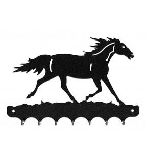 Accroche-clés, décor en métal, Cheval au galop