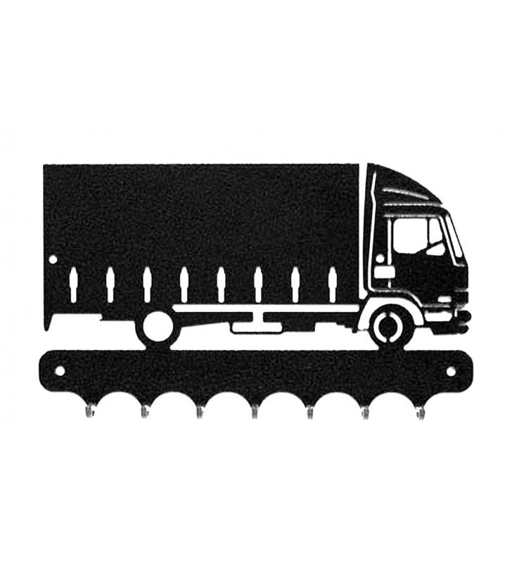 Accroche-clés, décor en métal, Camion