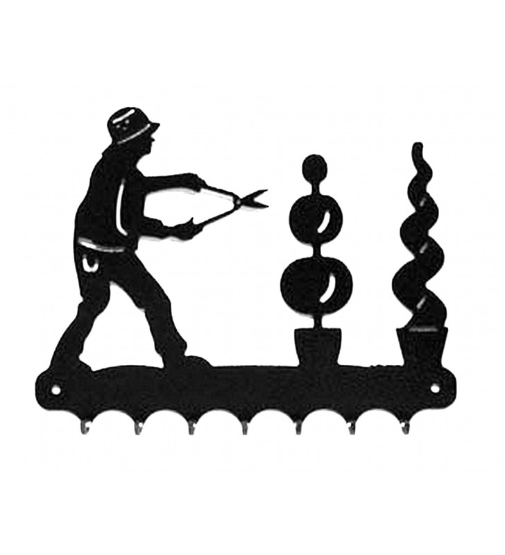 Accroche-clés, décor en métal, Paysagiste