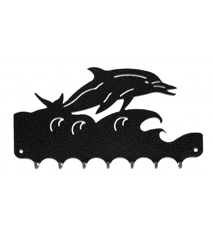 Accroche-clés, décor en métal, Dauphin