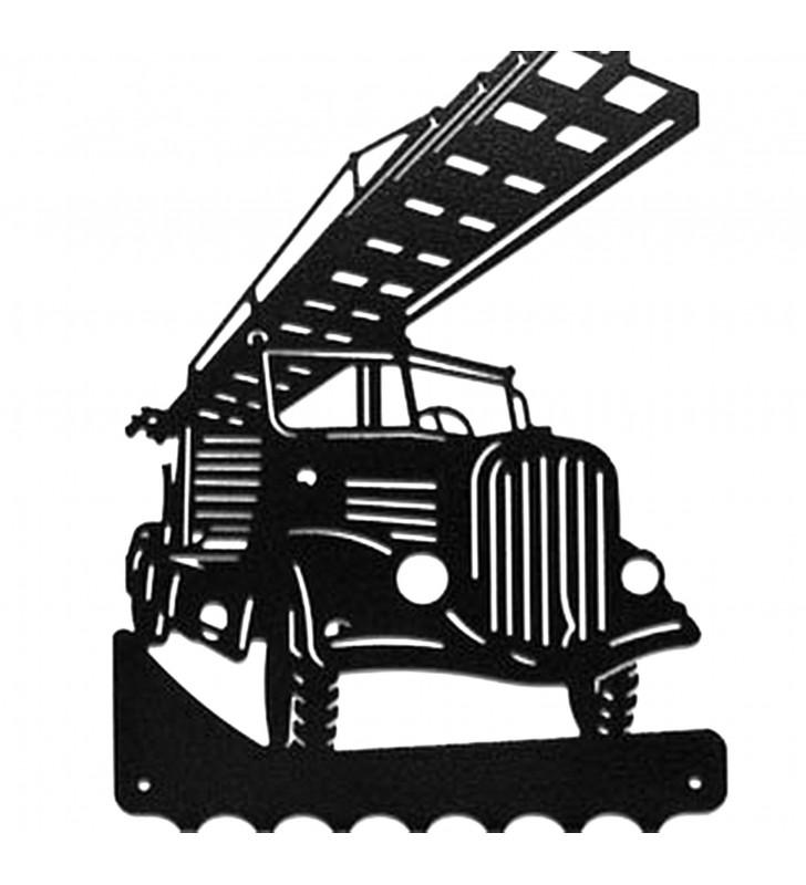 Accroche-clés, décor en métal, Camion de pompier