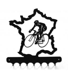 Accroche-clés, décor en métal, Le Tour de France