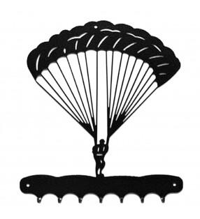 Accroche-clés, décor en métal, Parachutiste