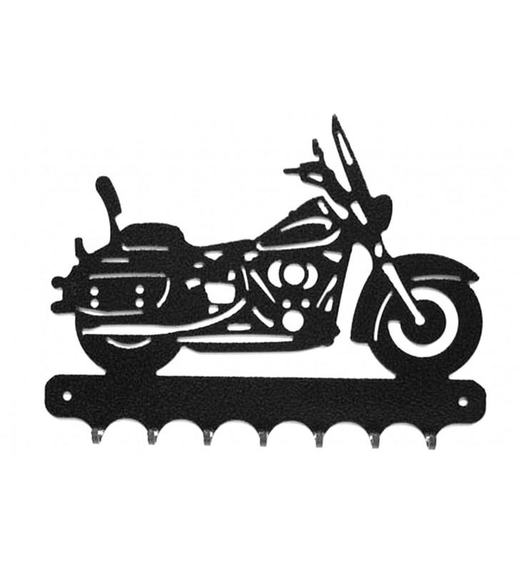 Accroche-clés, décor en métal, moto Harley