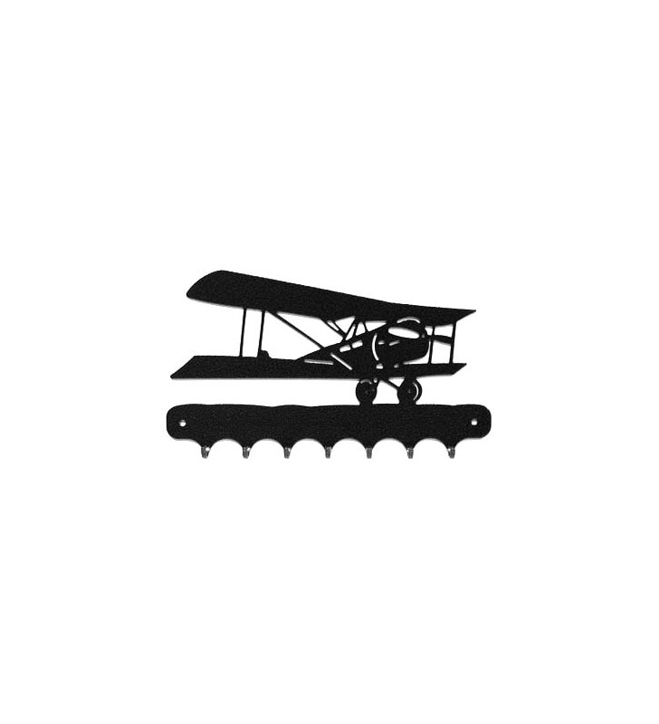 Accroche-clés, décor en métal, Avion 14-18