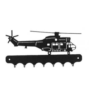 Accroche-clés, décor en métal, Hélicoptère Puma