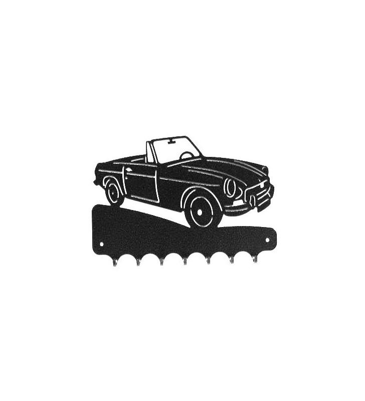Accroche-clés, décor en métal, MG B Cabriolet