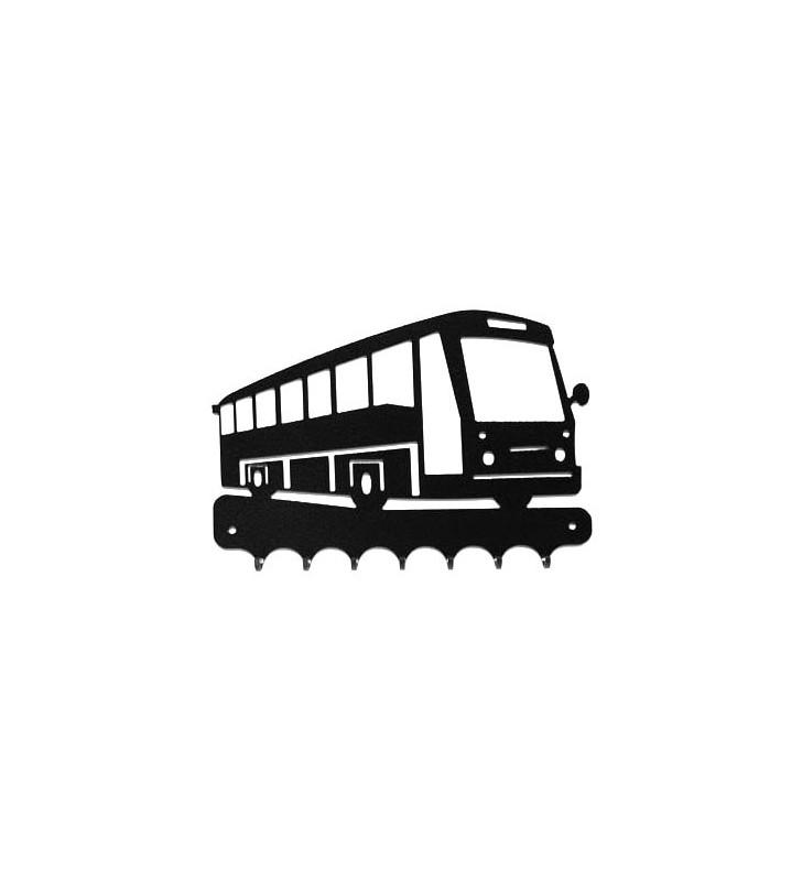 Accroche-clés, décor en métal, Bus