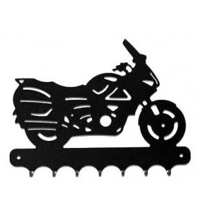 Accroche-clés, en métal, moto routière