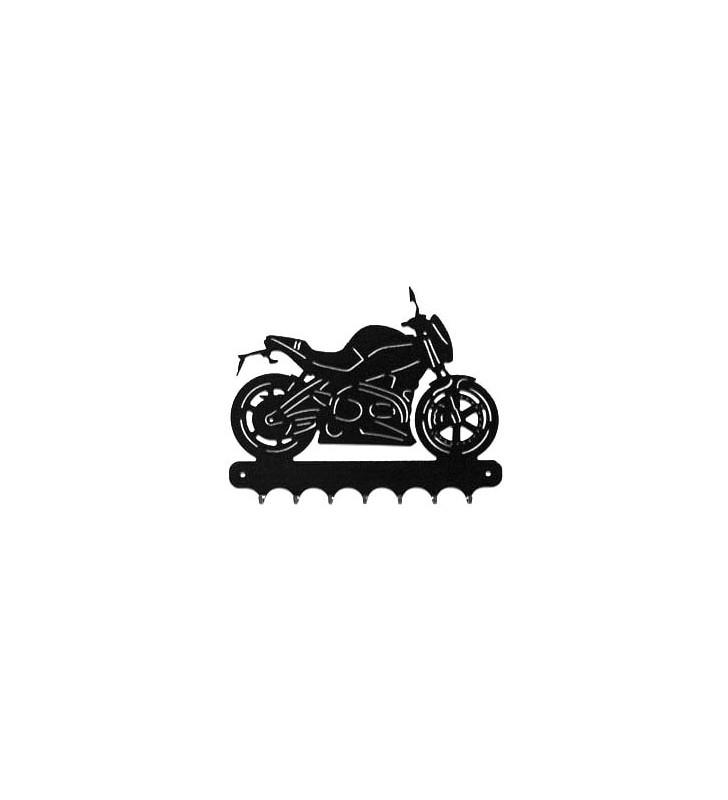 Accroche-clés, décor en métal, moto Buell