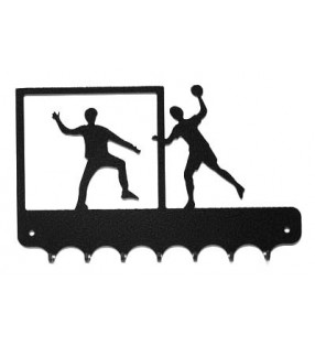 Accroche-clés, décor en métal, Handballeurs