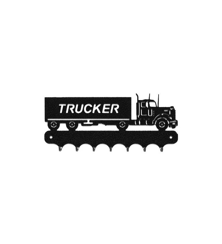 Accroche-clés, décor en métal, Camion américain