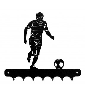 Accroche-clés, décor en métal, Footballeur