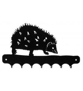 Accroche-clés, décor en métal, Hérisson