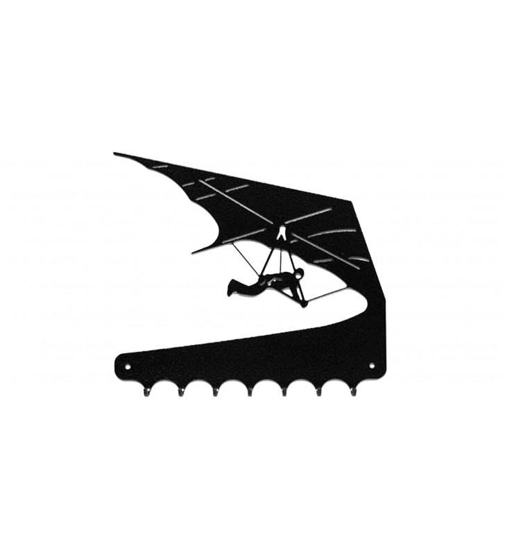 Accroche-clés, décor en métal, Deltaplane