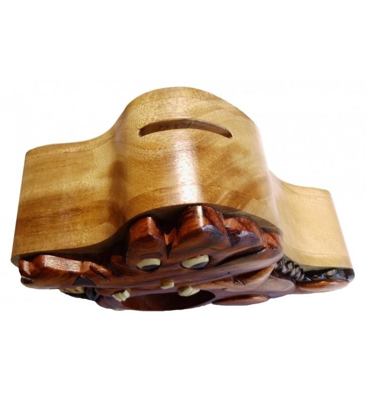 Tirelire puzzle originale en bois,  modèle Alligator