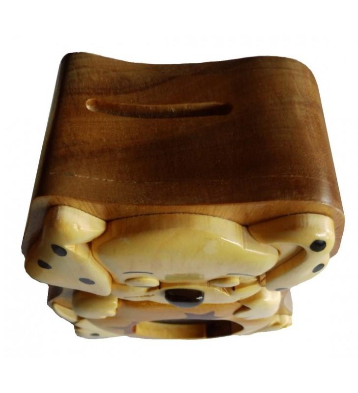 Tirelire puzzle originale en bois,  modèle Chiot dalmatien