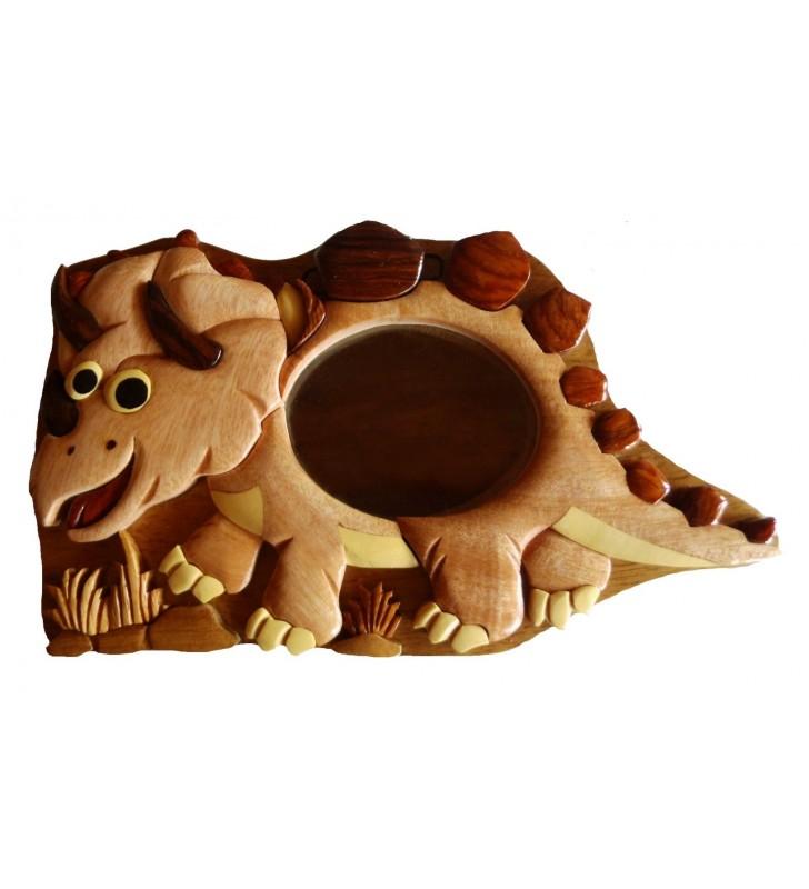Tirelire puzzle originale en bois sans prénom, Dinosaure