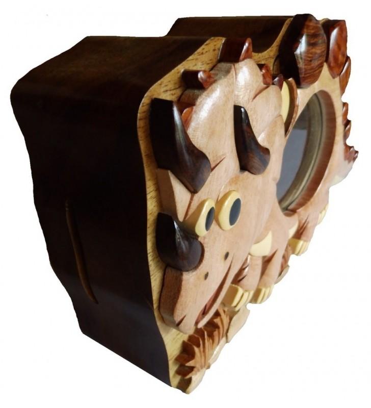 Tirelire puzzle originale en bois, modèle Dinosaure
