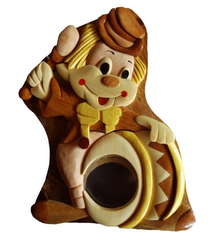 Tirelire puzzle originale en bois, Clown