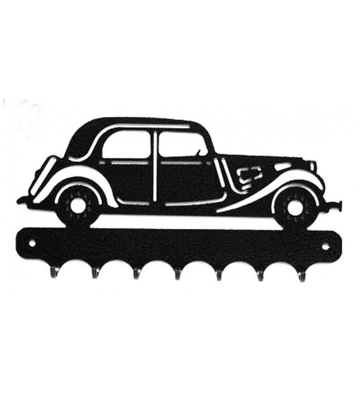 Accroche-clés, décor en métal, Traction Citroën