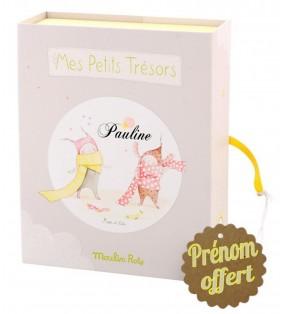 """Coffret naissance Moulin Roty avec prénom """"Les Petits Dodos"""""""