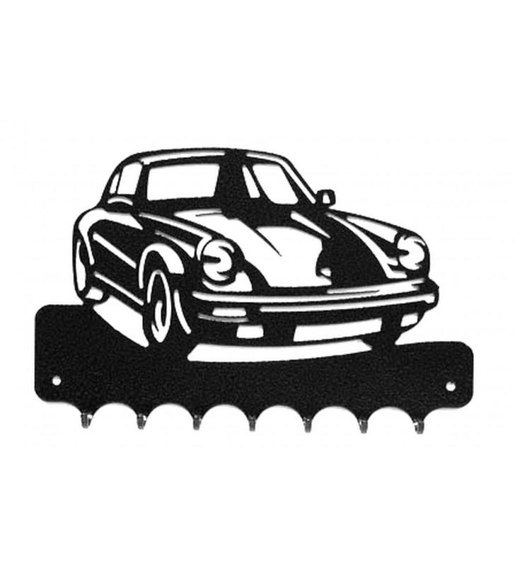Accroche-clés, décor en métal, Porsche 911