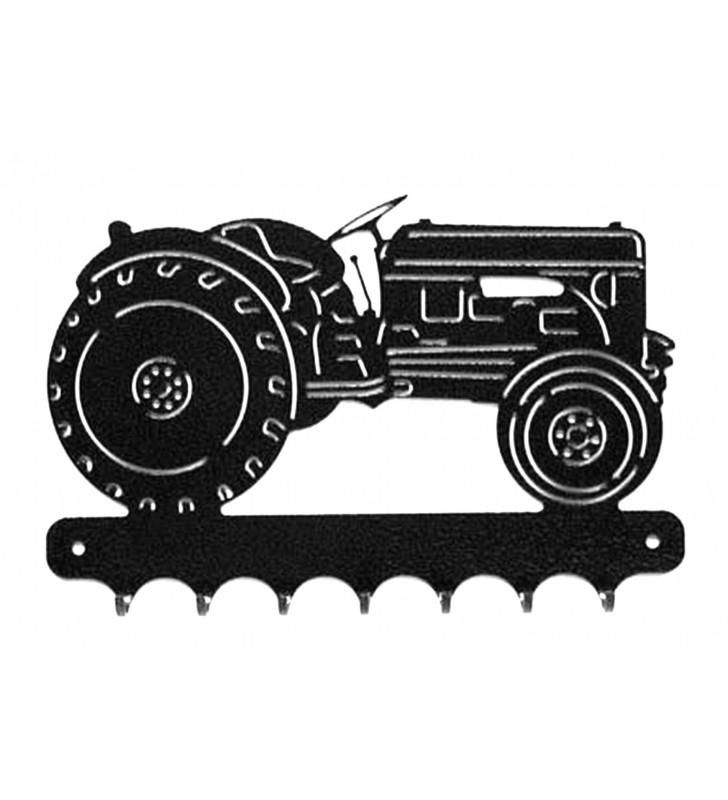 Accroche-clés, décor en métal, Tracteur Petit Gris Renault
