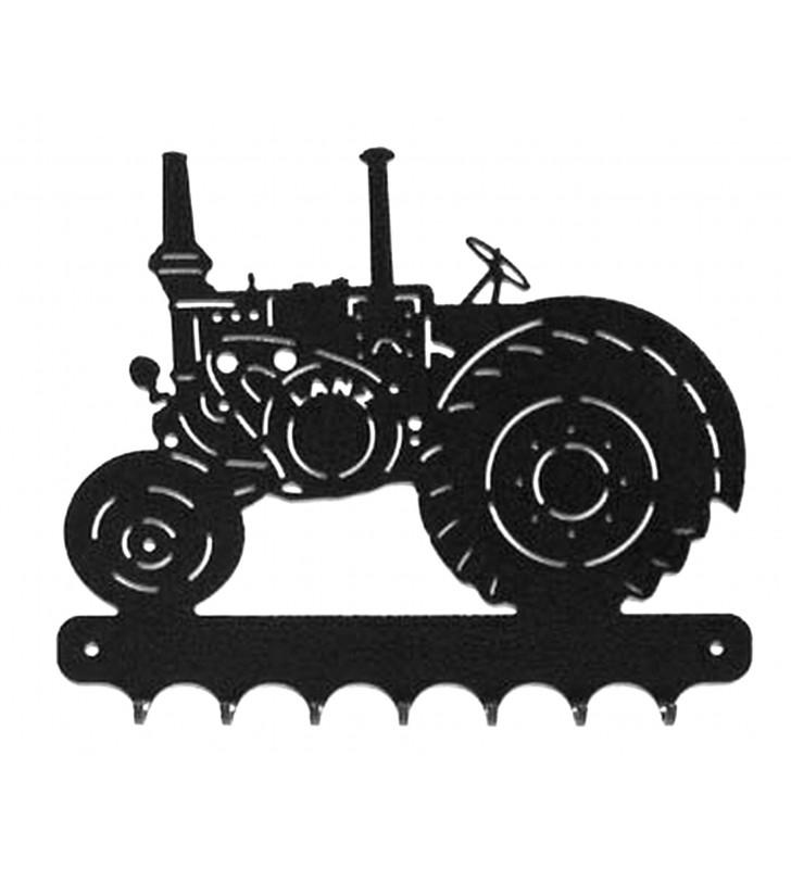 Accroche-clés, décor en métal, Tracteur Lanz Vue de gauche