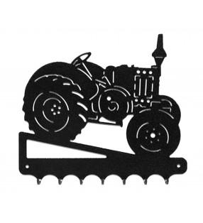 Accroche-clés, décor en métal, Tracteur Lanz Vue de droite