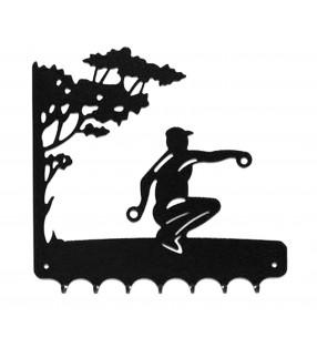 Accroche-clés, décor en métal, Joueur de Pétanque