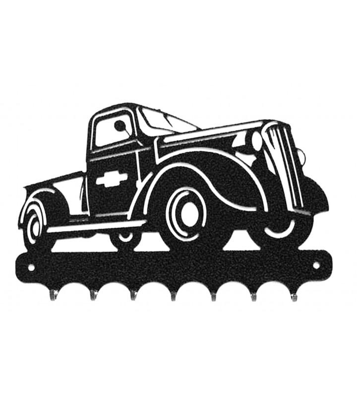 Accroche-clés, décor en métal, Chevrolet