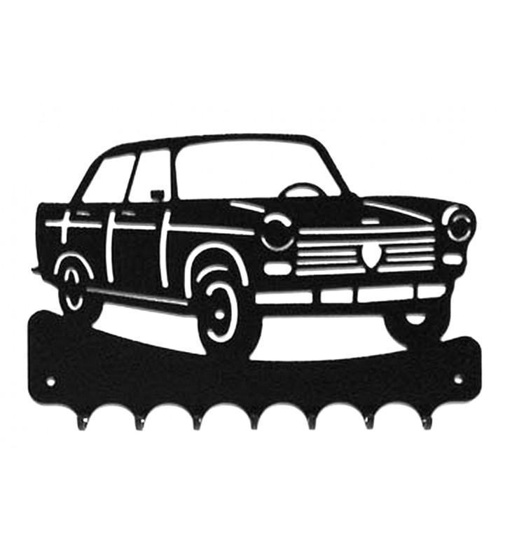 Accroche-clés, décor en métal, Peugeot 404