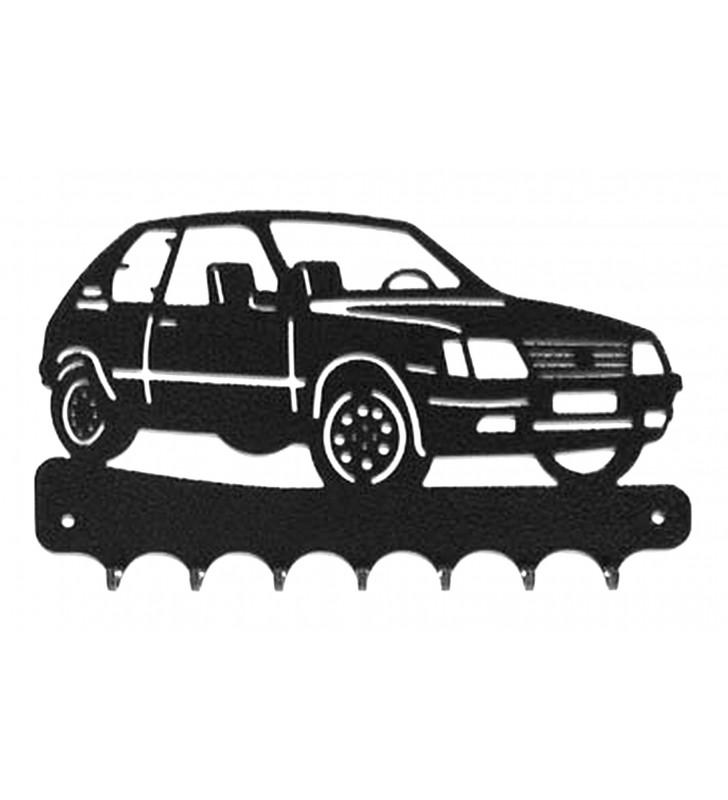 Accroche-clés, décor en métal, Peugeot 205 GTI