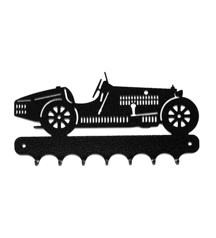 Accroche-clés, décor en métal, Bugatti type 35