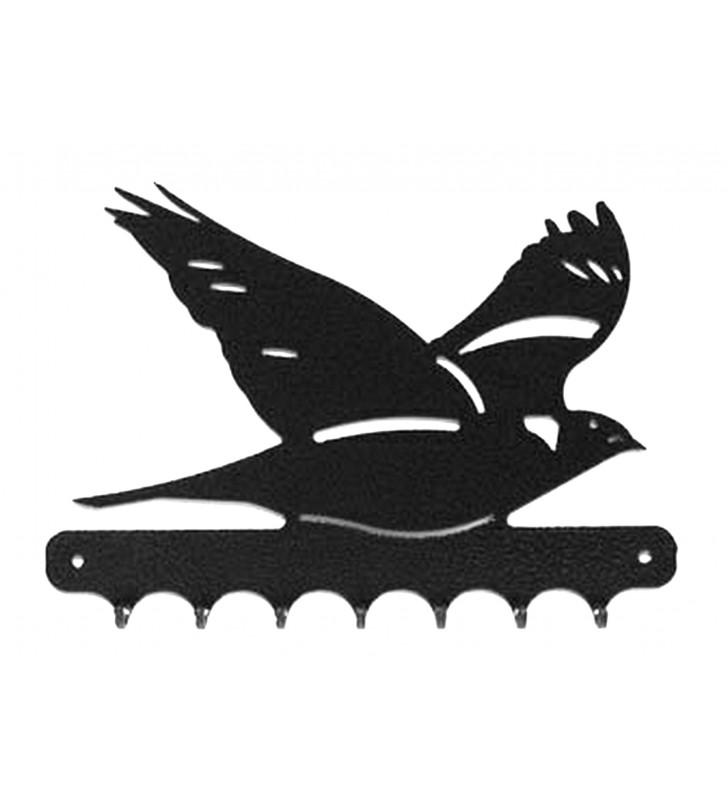 Accroche-clés, décor en métal, Palombe