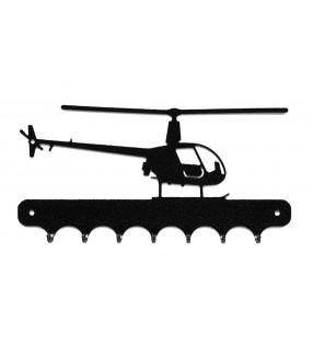 Accroche-clés, décor en métal, Hélicoptère