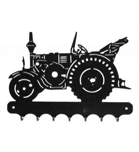 Accroche-clés, décor en métal, Tracteur routier Lanz Eilbulldog